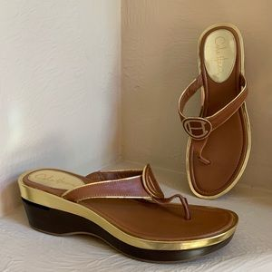 Cole Haan Nike Air Leather Thong Sandal - Size 9